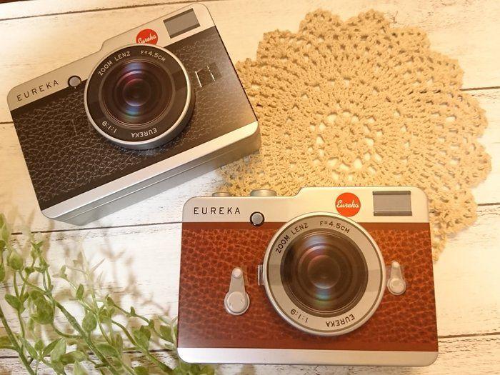 【カルディ】可愛すぎる♡カルディのレトロなカメラ缶チョコ♪