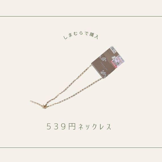 【しまむら】人気インフルエンサー「てら」さんコラボ!539円「ロングネックレス」最新作をゲット