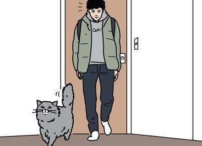 猫の見送りに規則はない【男の猫道】vol.78