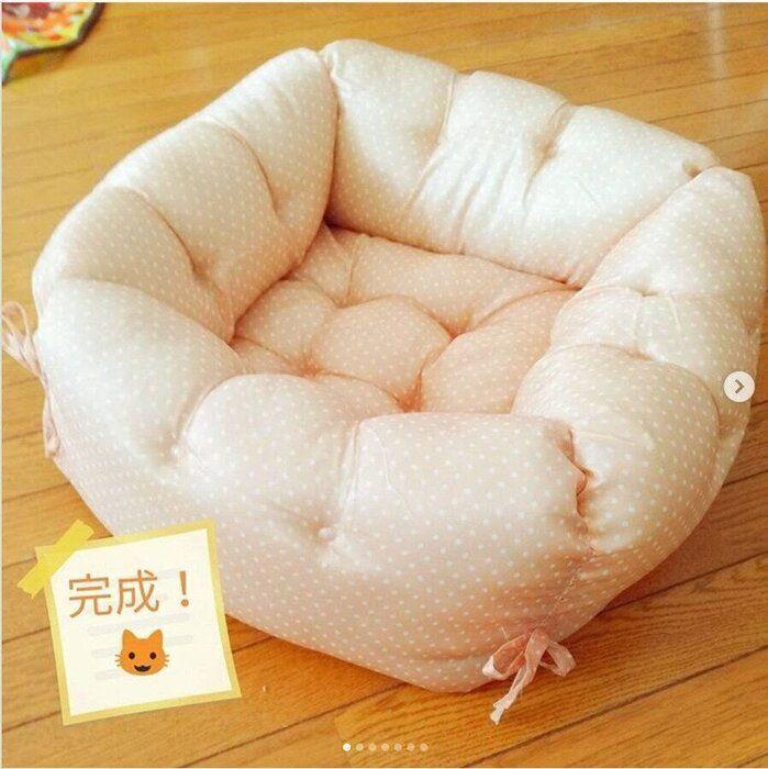 完成した猫ベッド