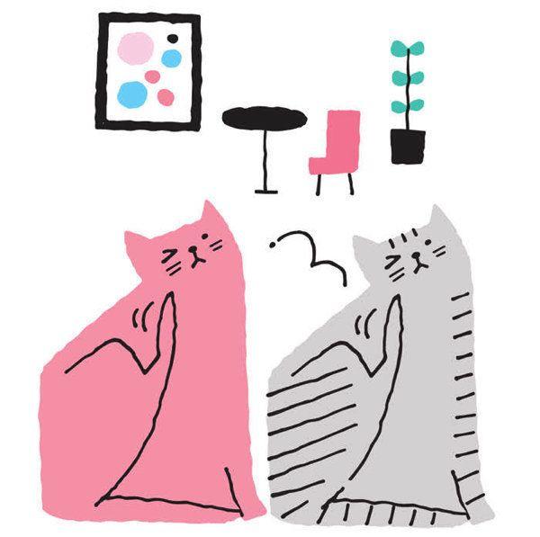 猫の健康を脅かす寄生虫 イラスト/山村真代
