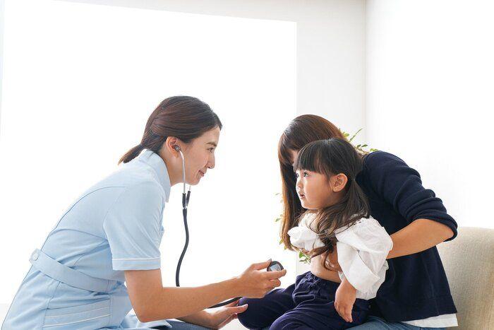 子供が予防接種を受けてください。