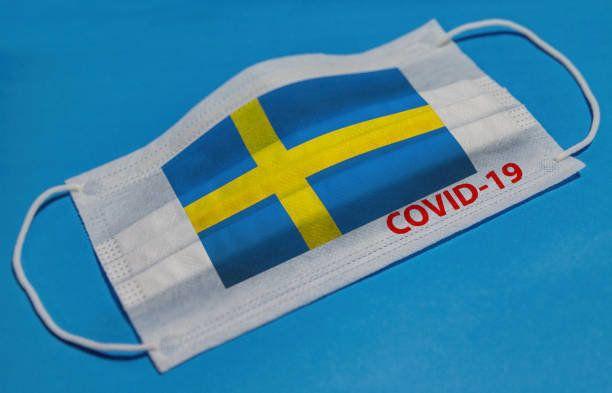 医療フェイスマスク。スウェーデンの検疫