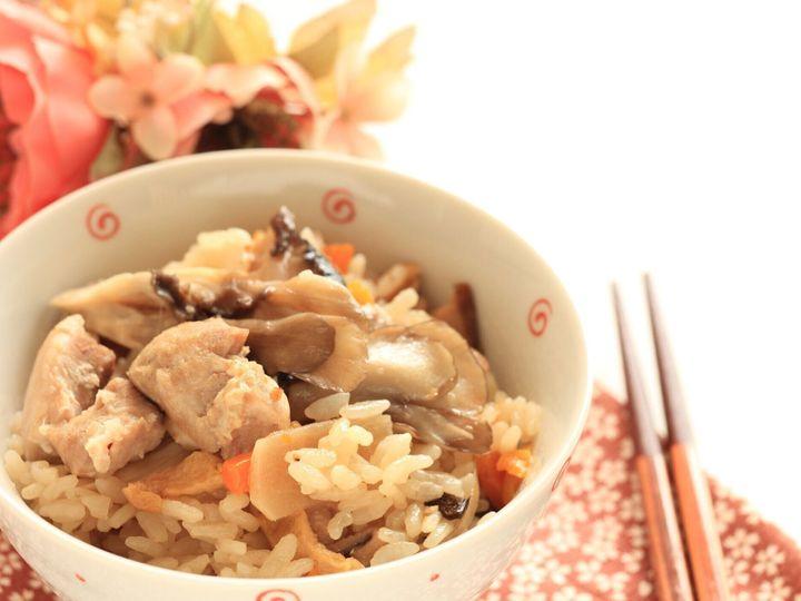 和食・鶏肉・マイタケ米
